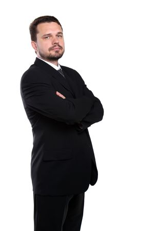 Portrait of a representative business man standing with crossed arms Stock Photo - 7078569