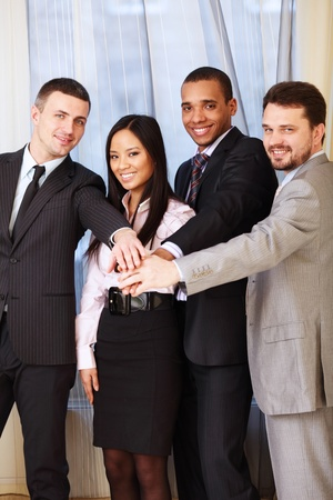 Portrait of a multi ethnic business team. photo