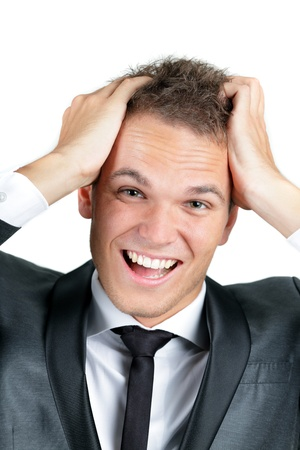 Surprise - A very surprised man- Close-up of a young man looking very surprised. Stock Photo - 9282891