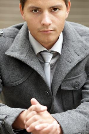 Closeup image of businessman hands photo