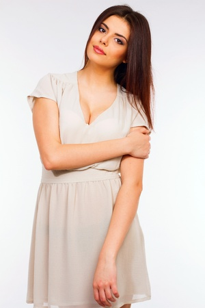 sexiness: Portrait of a young attractive woman in dress