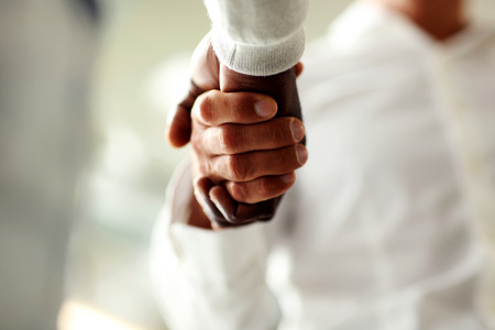 trust: Close-up of businessmen shaking hands