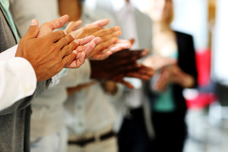 Close-up of business people clapping hands Stock Photo - 29529106