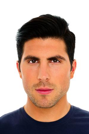 hair man: Portrait Gros plan d'un bel homme