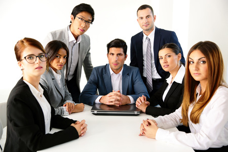 Group of businesspeople having meeting in the office photo