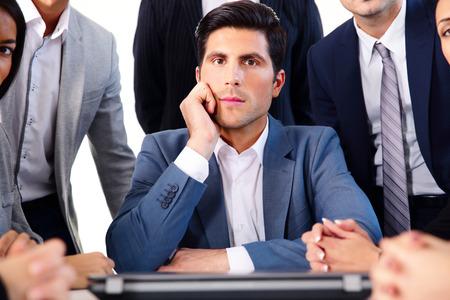 Portrait of a handsome businessman photo
