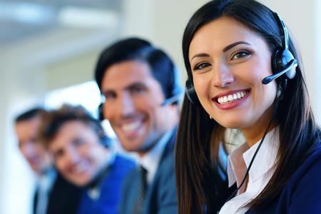 Call center operators Banque d'images