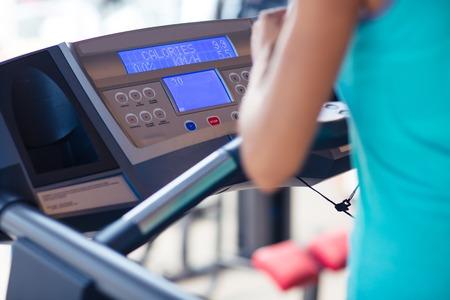 Closeup portrait of interface of treadmill Zdjęcie Seryjne