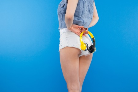 ass standing: Closeup portrait of female hips Stock Photo