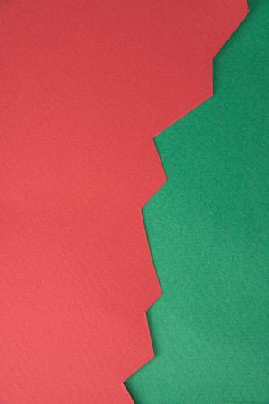 Imagen del gráfico de negocio rojo aislado sobre fondo verde. Foto de archivo - 80123814