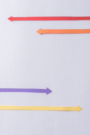Picture of business graphics arrows isolated over grey background. Imagens