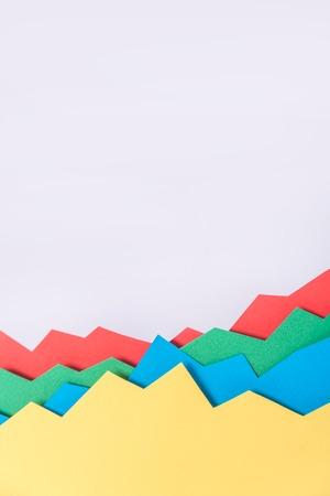 Afbeelding van bedrijfsgrafiek geïsoleerd over grijze achtergrond.