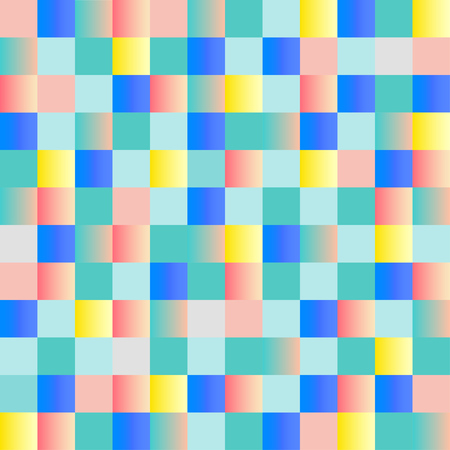Checkered colorful seamless pattern. Vector illustration. Abstract geometric background