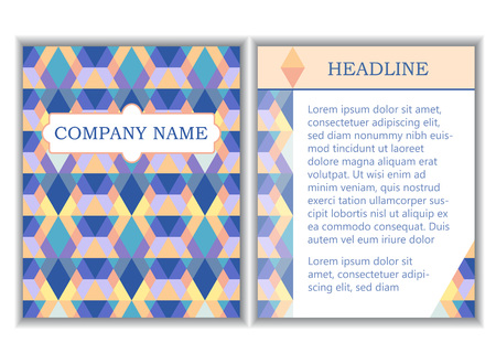 Set of brochure business templates with space for company name and headline. Vector illustration Иллюстрация