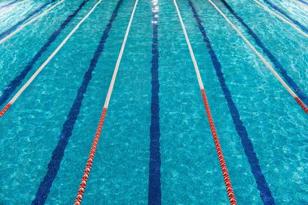 Top view of swimming pool lanes Banco de Imagens