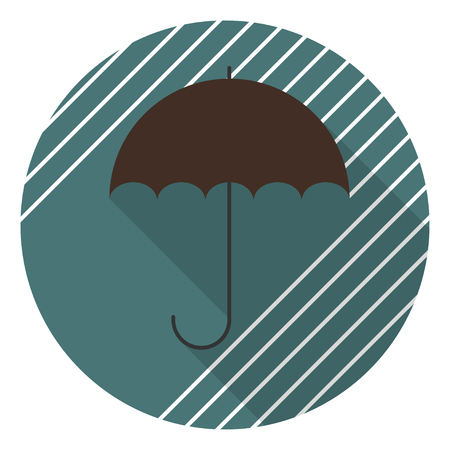 An Umbrella protecting from the rain icon. Vector illustration. Ilustração