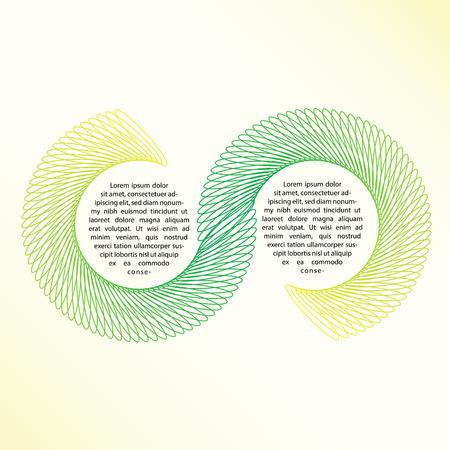Elegante fondo colorido con coloridas líneas espirales. Textura de fondo abstracto con formas geométricas con espacio libre para el texto. Ilustración vectorial Foto de archivo - 81547356