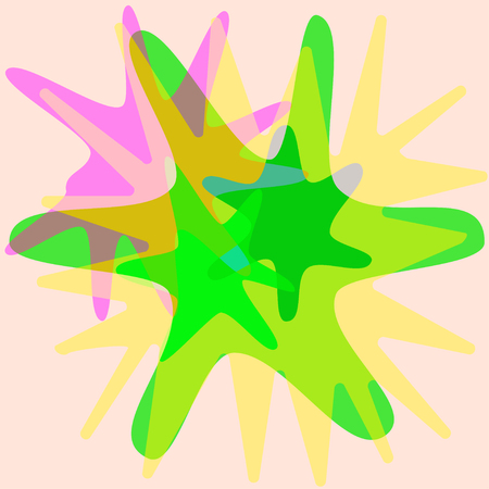 Colorful spray paint stains over white background. Vector illustration