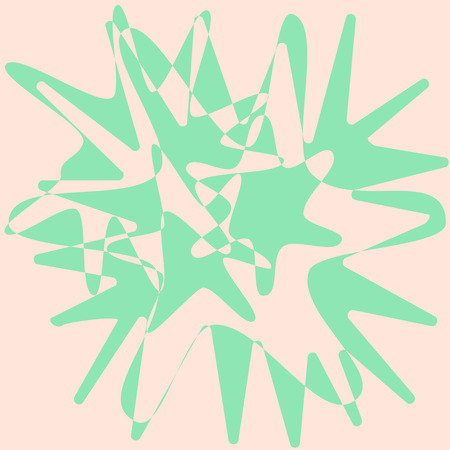 Abstract green paint splashes over white. Vector illustration Illusztráció