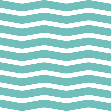 Simple modern hand drawn wave pattern. Vector illustration