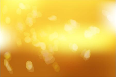 Geel goud met abstract vaag licht. Gouden lichte achtergrond. Vector illustratie Stock Illustratie