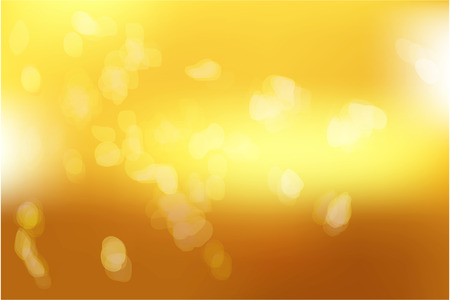 Yellow gold with abstract blurred light. Golden light background. Vector illustration