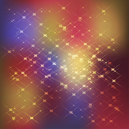 Fantasy starry colorful gradient background. Vector illustration
