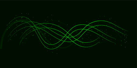 Background design of sine waves and lights. Vector illustration