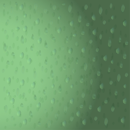 Green 3D water drops. Seamless pattern illustration