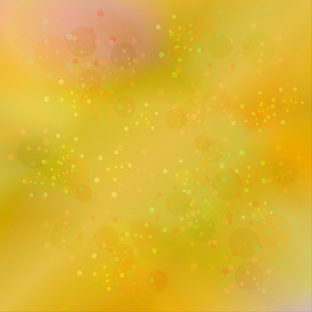 Shiny yellow chaotic dot pattern. Vector illustration