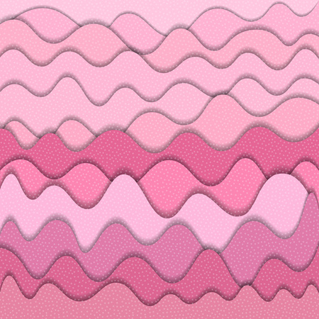 Pink abstract water wavy pattern. Vector illustration Illustration