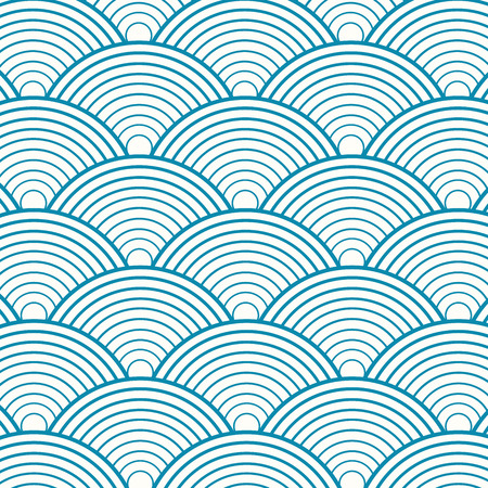 Blue circle seamless pattern for background. Vector illustration
