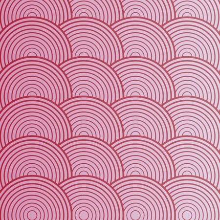 ピンクの抽象的なサークルのシームレスなパターン。ベクトル図