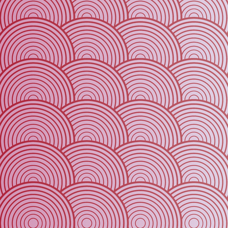 Pink abstract circle seamless pattern. Vector illustration