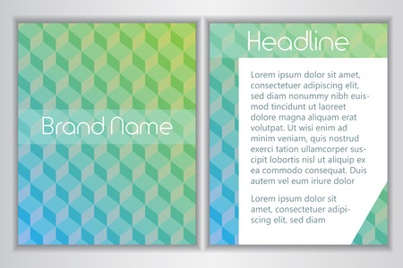 Branding identity template with abstract backdrop design. Place for brand name and headline.Vector illustration Illusztráció