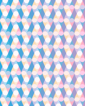 Abstract pastel pattern with circles. Vector illustration background Illustration