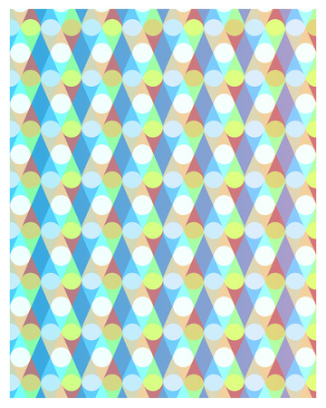 Abstract colorful pattern with geometric lines and circles. Vector illustration background