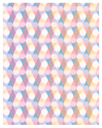 Abstract pastel pattern with geometric lines and circles. Vector illustration background