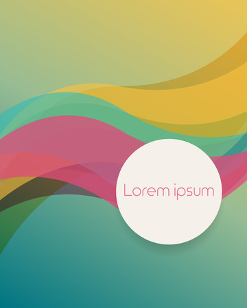 Abstract colorful background with curvy lines overlapping layer and space for text. Vector illustration