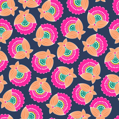 Modern colorful abstract floral pattern. Vector illustration