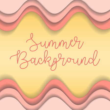 Pink gradient wavy lines background with space for text. Vector illustration 向量圖像