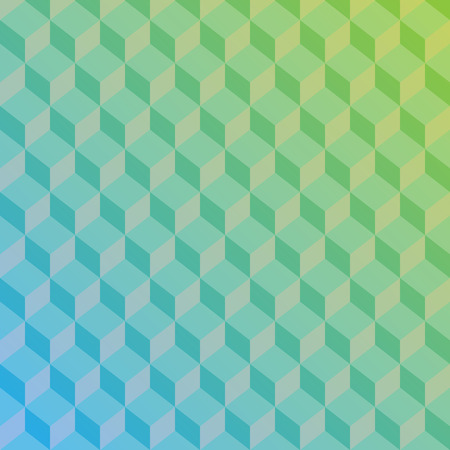 Abstract green and blue gradient pattern with sharp lines. Vector illustration background