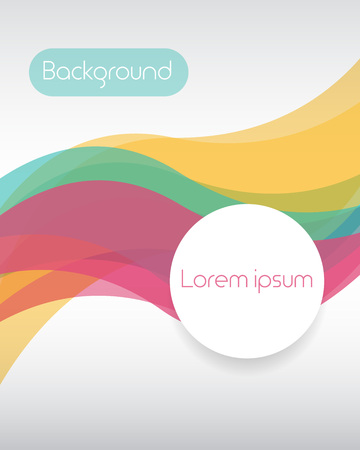 Colorful background with curve line overlapping layer and space for text. Vector illustration 向量圖像