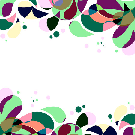 Abstract colorful drops frame with place for text. Vector illustration