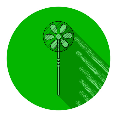 Green ventilator round icon. Vector illustration Illustration