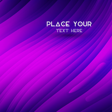 Wavy graphic design background with place for text. Vector illustration 向量圖像