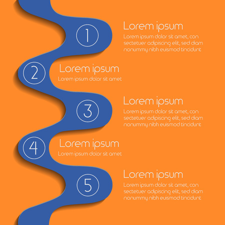 Process chart infographic template for banner or brochure. Vector illustration