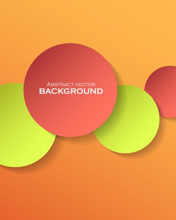 Abstracte kleurrijke papieren cirkels met plaats voor tekst. Vector illustratie