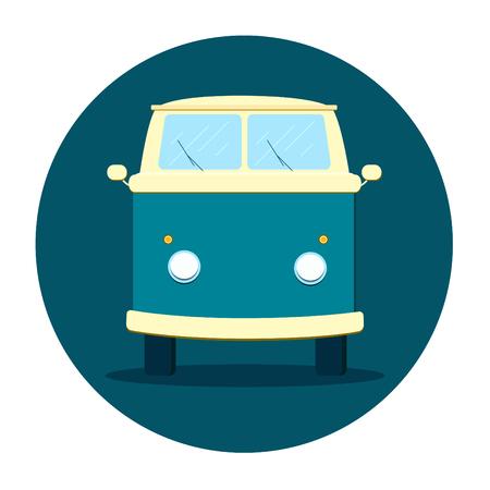 Cartoon minivan icon. Vector illustration Illustration