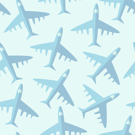 Creative seamless pattern with airplanes. Vector illustration Illustration